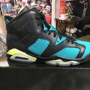 Jordan teal and black
